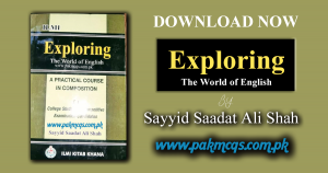 Exploring the World of English By Sayyid Saadat Shah