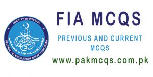 FIA MCQS PAK MCQS PK