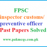 FPSC inspector customs/ preventive officer Past Papers Solved video MCQS