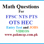 Math Questions For FPSC NTS PTS OTS HEC entry test and Jobs