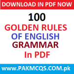 Download 100 Golden rules of English Grammar in PDF