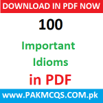 Download 100 Important Idioms in PDF