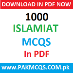 Download 1000 Islamiat MCQS for Basic Information in PDF