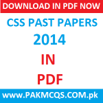 Download CSS 2014 Past Papers in PDF