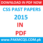 Download CSS 2015 Past Papers in PDF