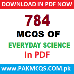 Download Most authentic MCQs of everyday science in PDF