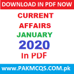 Current Affairs of January 2020 in PDF