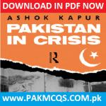 Download Now Pakistan in Crisis by Ashok Kapur in PDF
