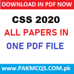 DOWNLOAD CSS 2020 ALL PAPERS in PDF
