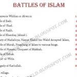 Battles of Islam in PDF free download