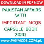 Download Now PAKISTAN AFFAIRS CAPSULE BOOK 2020 in PDF