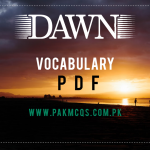Dawn October 2020 Vocabulary in pdf Download Now