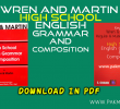 Wren and Martin High School English Grammar and Composition Download in PDF