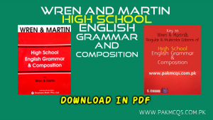 Wren-and-Martin-HIGH-SCHOOL Book and Key PAKMCQS PK