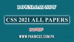 CSS 2021 All papers in PDF pakmcqspk