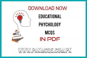 Educational Psychology MCQS in pdf