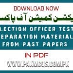 Election Officer PDF MCQS and past papers mcqs