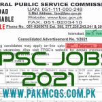 FPSC JOBS 2021 in PDF