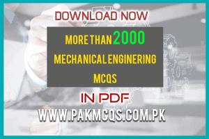 mechanical Engineering mcqs in pdf pakmcqs.com.pk