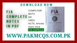 FIA CAPSULE FIA MCQS in PDF pakmcqs